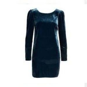 NWT! Charles Henry Velour Mini Dress w/ Pearls